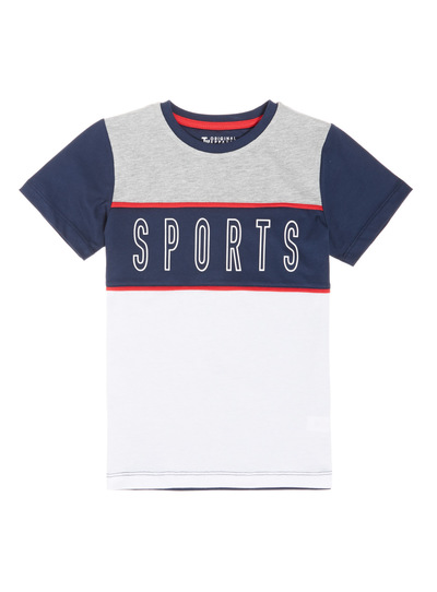 Multicoloured Colour Block Sports Tee (3-14 years)
