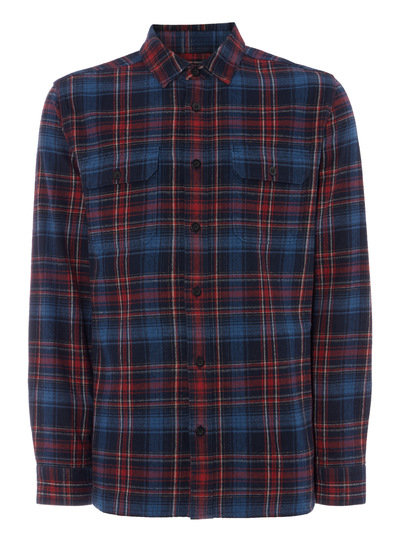 Red Multicheck Overshirt