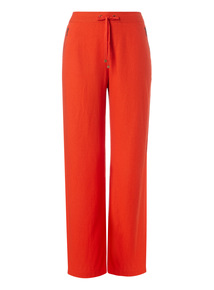 Red Linen Rich Trousers
