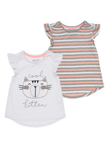 Cool Cats Tees 2 Pack (9 months - 6 years)