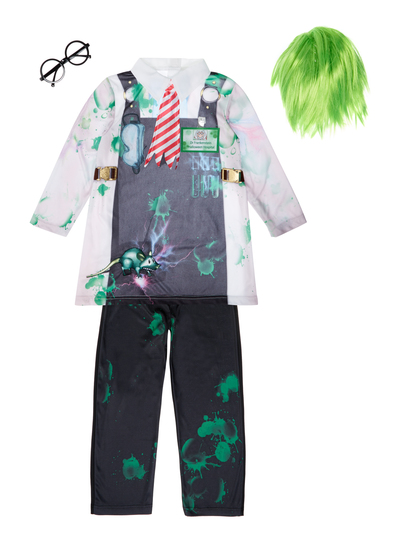 Fancy Dress Kids Dr Potionstein Outfit With Wig 9 Months 12 Years