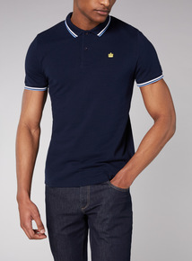 Admiral Navy Tipped Polo Shirt