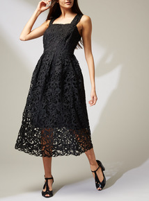 Premium Black Lace Dress