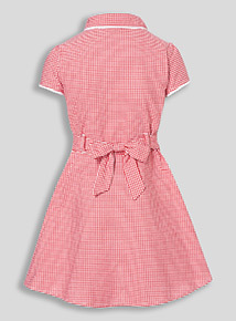 Online Exclusive Red Plus Fit Gingham Dress (3-12 years)