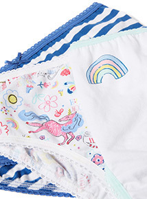 10 Pack Multicoloured Rainbow Unicorn Briefs