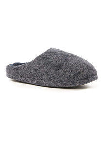 Marl Velour Mule Slippers