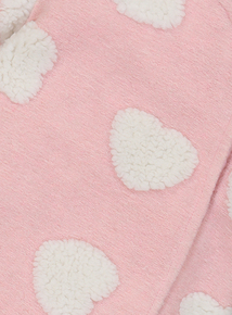 Pink Heart Print All In One (Newborn - 12 months)