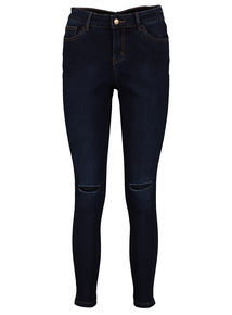 Online Exclusive Dark Denim Ripped Knee Skinny Jeans