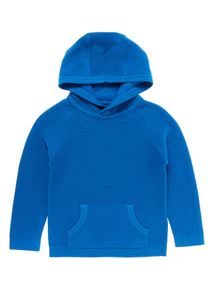 Boys Blue Ribbed Hoodie (9 months - 6 years)