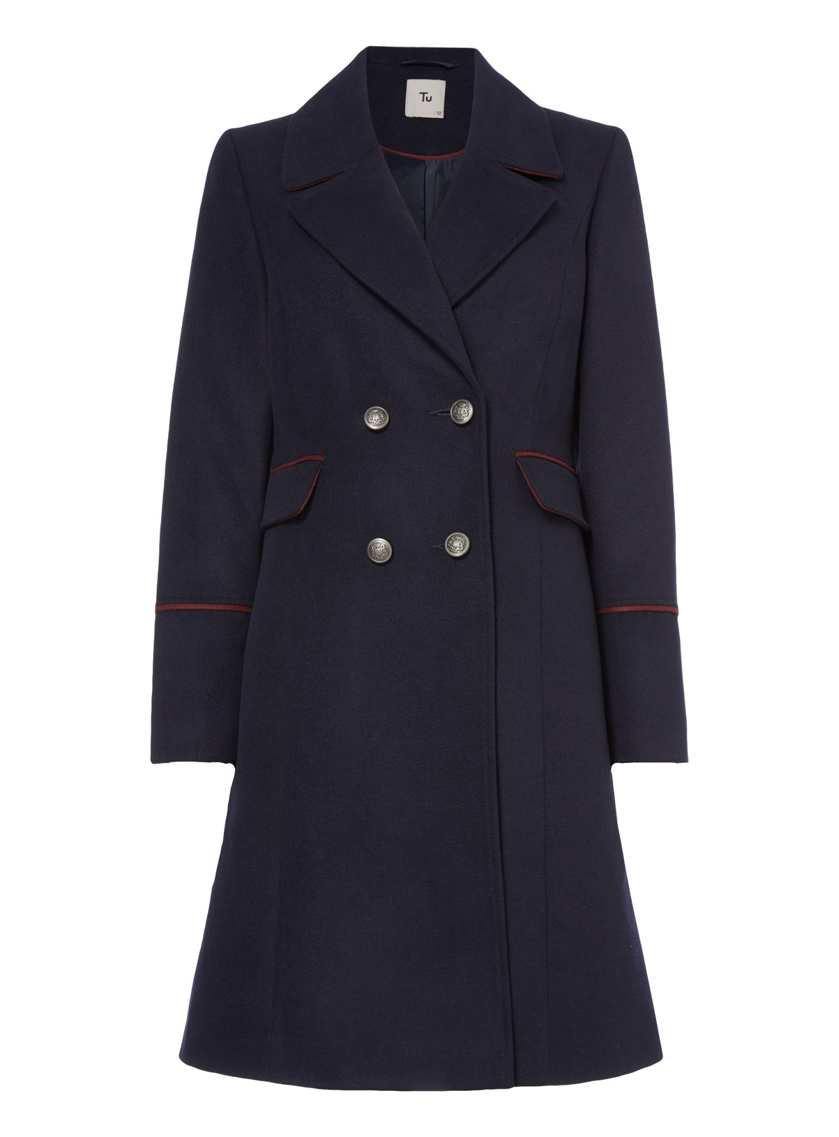 Womens Military Style Coat | Tu clothing