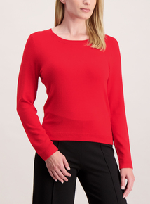 Online Exclusive Red Crew Neck Jumper