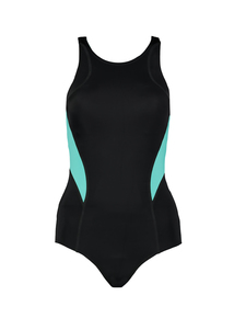 Black And Turquoise Swimsuit