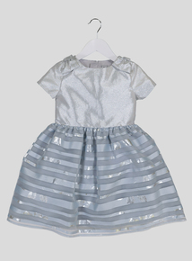 Light Blue Sparkle & Stripe Dress (9 months - 6 years)