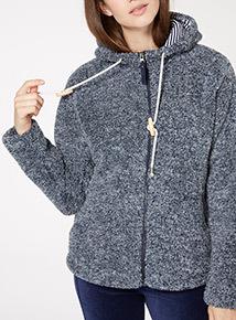 Navy Fleck Textured Fleece