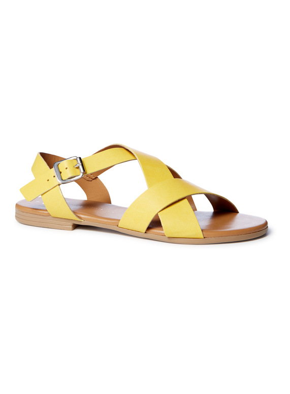 09658d3bba7 Womens  Made In Italy  Double Cross Strap Sandals