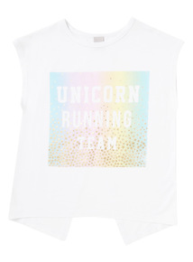 White Unicorn Running Top (3 - 14 years)