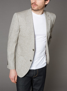 Dark Stone Linen Stone Jacket