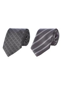 Black & Grey Ties 2 Pack
