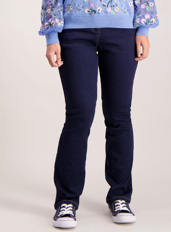 PETITE Dark Denim Straight Leg Jeans