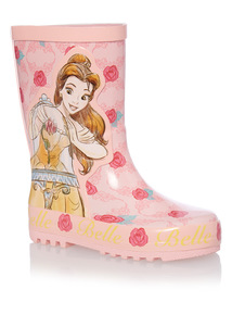 Girls Pink Beauty and The Beast Welly