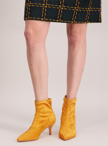 Mustard Pull On 'Sock' Ankle Boot