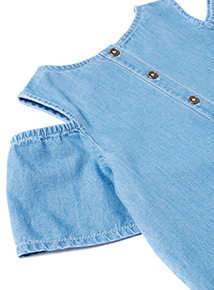 Denim Frill Dress (3-14 years)