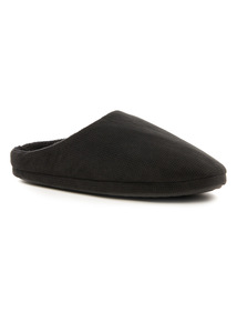 Velour Marl Mule Slippers