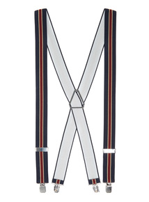 Navy Stripe Braces