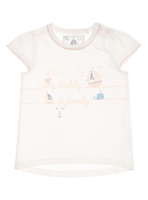 White 'My Daddy Is Lovely' Tee (0 - 12 months)