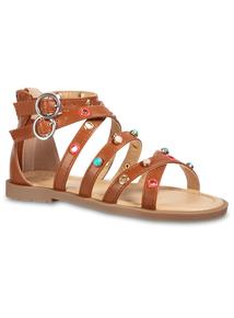 8c765cc481afd0 Brown Gladiator Sandals (10 Infant - 4)