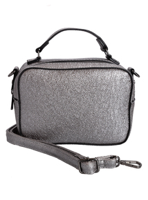 Silver Metallic Small Cross Body Bag