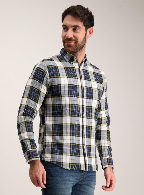 f2659e01537 Menswear Multicoloured Tartan Check Regular Fit Shirt