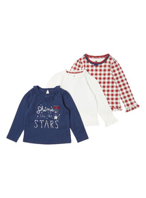 Navy Three Pack Star Tees (0-24 months)