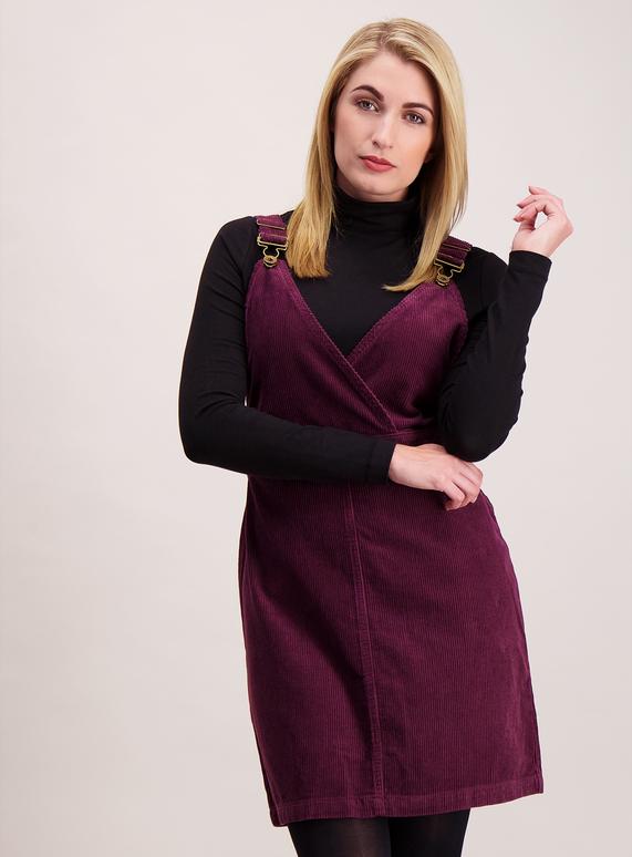 5771c4aa85d Womens Purple Corduroy Pinafore Dress