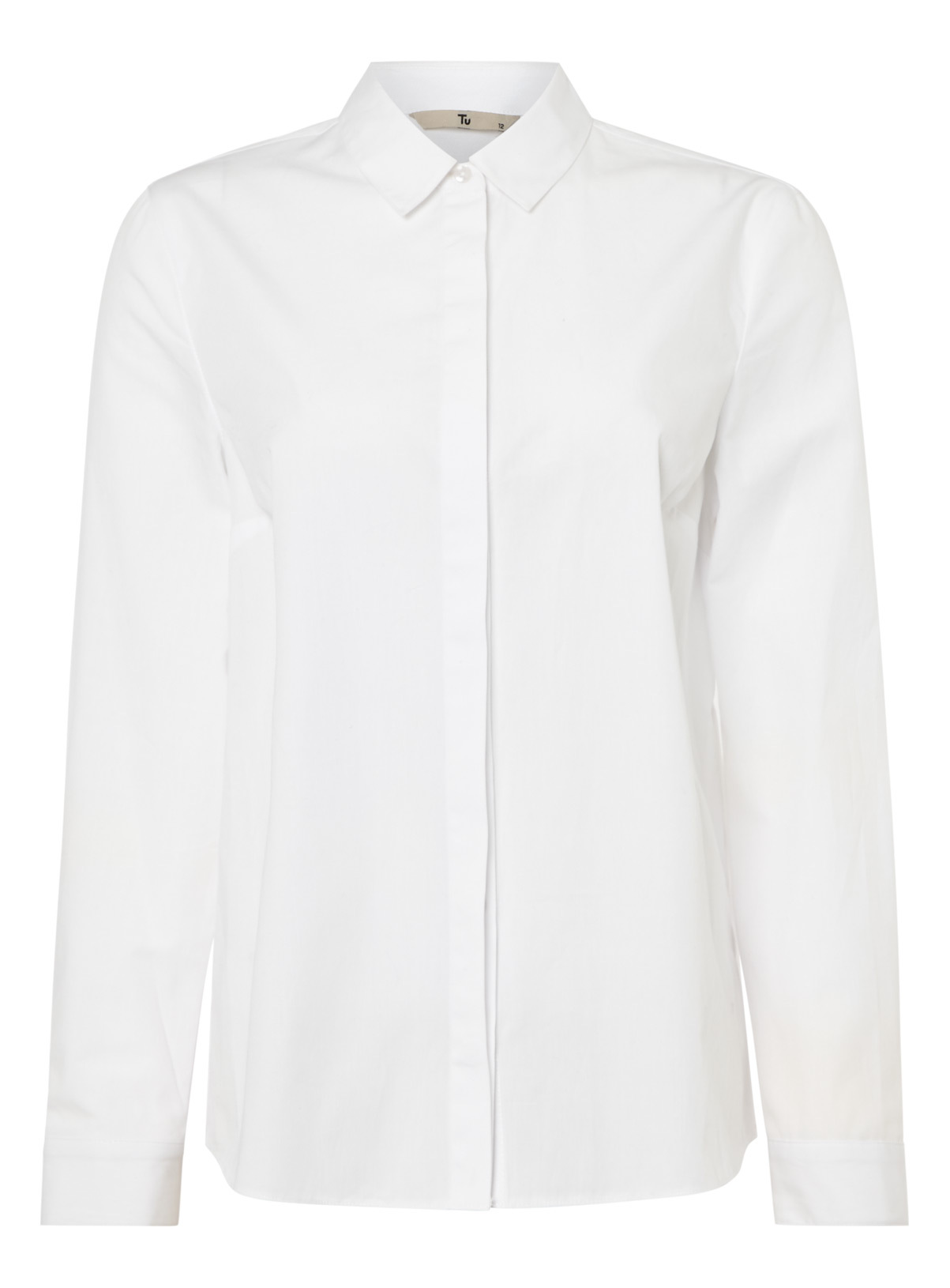 Womens White Plain Shirt | Tu clothing