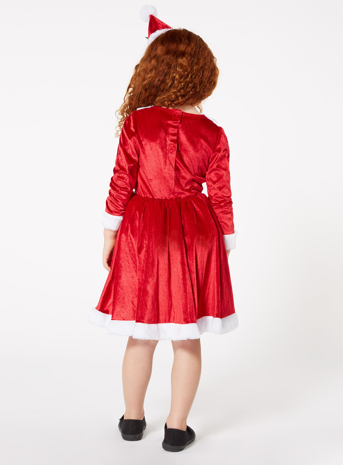 Fancy Dress Red Christmas Santa Dress Costume (1-10 years) | Tu ...