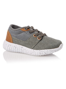 Boys Grey Multi Trainers