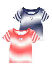 2 Pack Red and Navy Rib Tops (3-14 years)