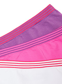 3 Pack Multicoloured Stripe Seam Free Shorts (4-14 years)