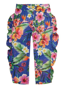 Multicoloured Tropical Hareem Trousers (3 - 14 years)