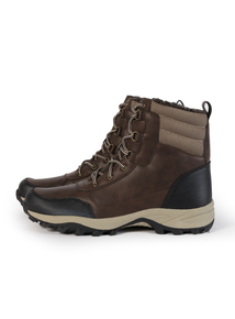 Sole Comfort Brown Chunky Fleece Top Boot
