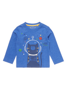 Blue Cat Printed Tee (0-24 Months)