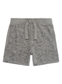 Boys Grey Monster Jersey Short (9 months - 5 years)