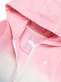 Multicoloured Ombre Zip-Through Hoodie (3-14 years)