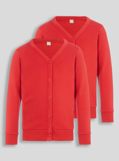 9c35fbe03a5 Kids Red Sweat Cardigan 2 Pack (3-12 years)