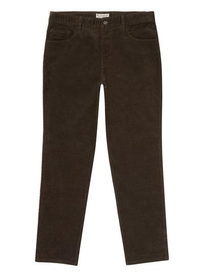 Bark Brown Corduroy Trousers