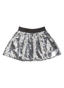 Silver Sequin Skirt (3-14 years)