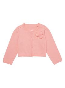 Pink Crop Cardigan (0 - 24 months)