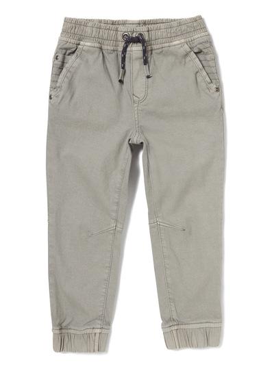 Grey Rib Waist Cargo Trousers (3-14 years)