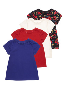 Multicoloured Top 4 Pack (3 - 12 years)